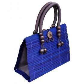 Blue Bamboo Handbag