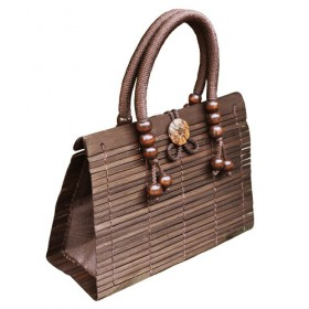 Brown Bamboo Handbag