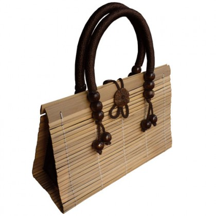 Tan Bamboo Handbag