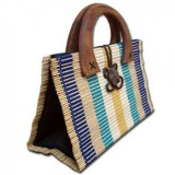 Bamboo Handbag - Beach Stripes