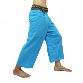 Thai Fisherman Pants - Blue Cotton