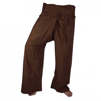 Fisherman Pants - Brown Cotton