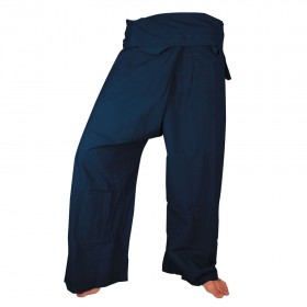 Fisherman Pants - Navy Blue Cotton