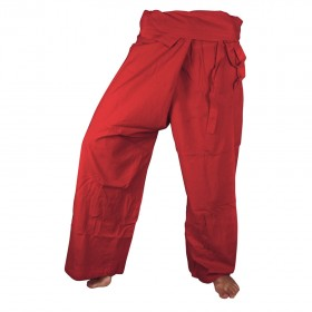 Fisherman Pants - Red Cotton