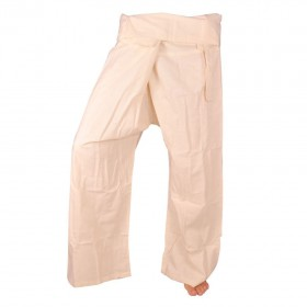 Fisherman Pants - White Cotton