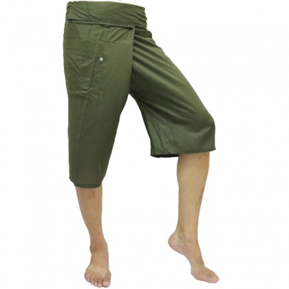Green Fisherman Pants 3/4 Length