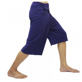 Navy Fisherman Pants 3/4 Length