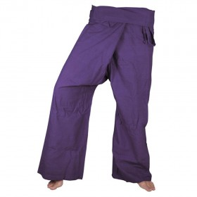 Fisherman Pants - Purple Cotton