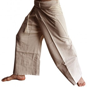 Fisherman Pants - Beige Cotton
