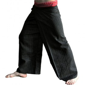 Thai Fisherman Pants - Black Cotton