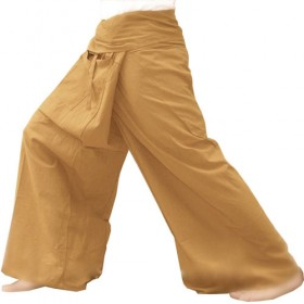 Fisherman Pants - Ochre Cotton