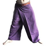 Thai Fisherman Pants - Purple Cotton