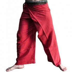 Thai Fisherman Pants - Red Cotton