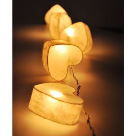 Heart Paper Lantern String Lights - White