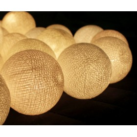 Cotton Ball Lights - White