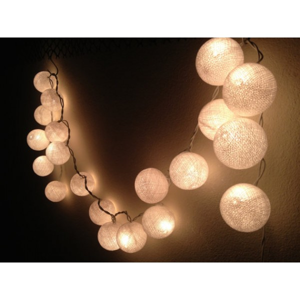 cotton ball lights white. Black Bedroom Furniture Sets. Home Design Ideas