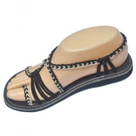 Women's Sandals - Brown and Cream