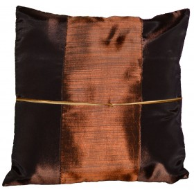 Silk Cushion Cover - Brown