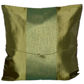 Silk Cushion Cover - Green