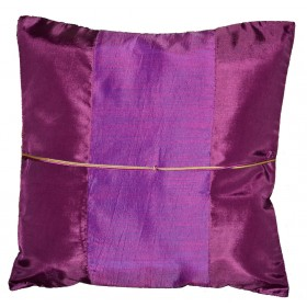 Silk Cushion Cover - Purple
