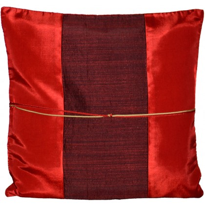Silk Cushion Cover - Red