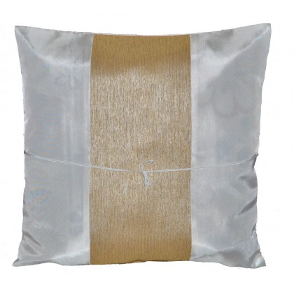 Silk Cushion Cover - White