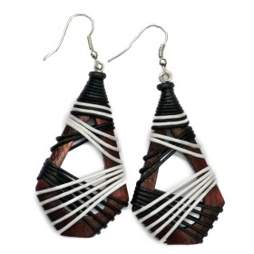 Brown Hollow Teardrop Earrings