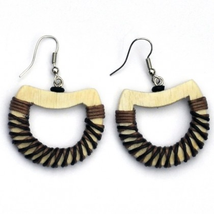 Cream Hoop Earrings