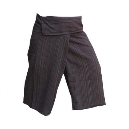 Black Thai Fisherman Pants 3/4 Length - Cotton