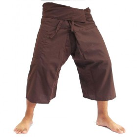Brown Fisherman Pants 3/4 Length