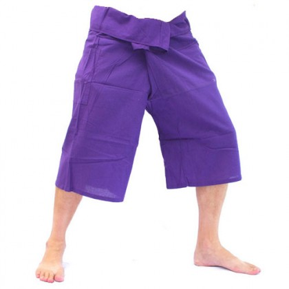 Purple Fisherman Pants 3/4 Length