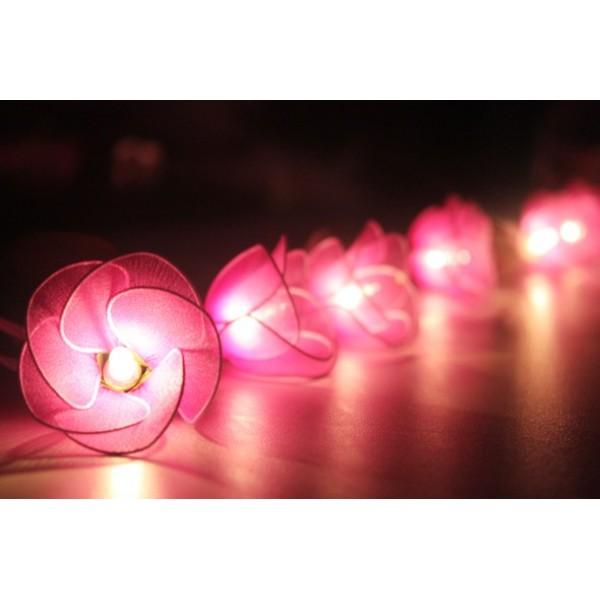 Purple Heart String Lights : Purple Flower String lights