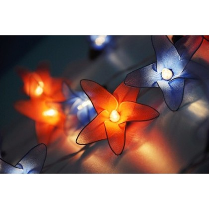 String Of Blue Lights Ubersetzung : Red Blue Flower String lights