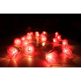 Red Flower String lights