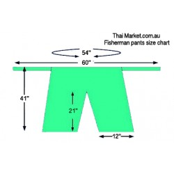 Fisherman Pants Size chart