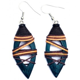 Eclipse Teal Earrings