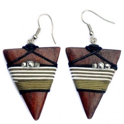 Tribal Pyramid Earrings