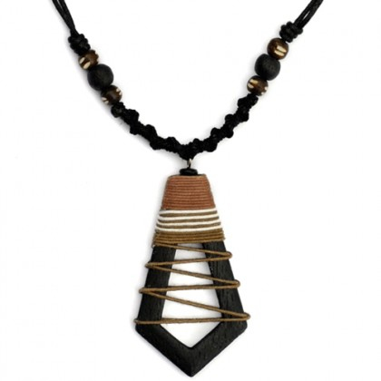 Brown Hollow Abstract Necklace