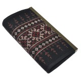 Hmong Hill Tribe Purse - Black & Scarlett
