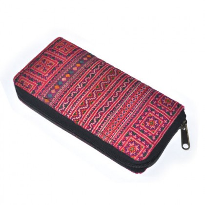 Thai Clutch Purse - Pink