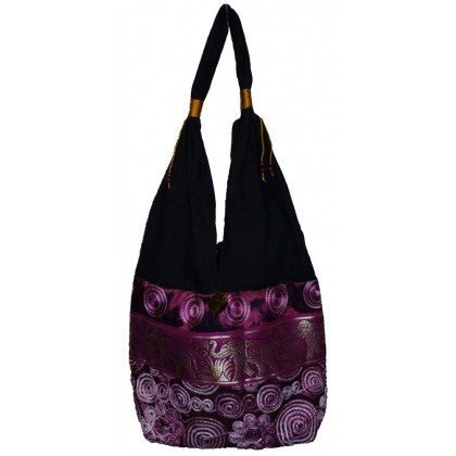 Purple Tote Bag - Elephant Band