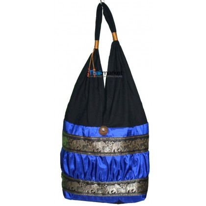 Blue Tote Bag - Silver Elephant Bands
