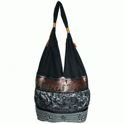 Silver Tote Bag - Brown Elephant Band